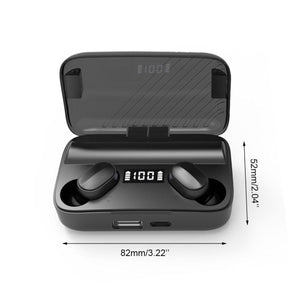 Wireless Earphone bluetooth Magnetic Headphones 9D HiFi Noise Cancelling Waterproof Headsets