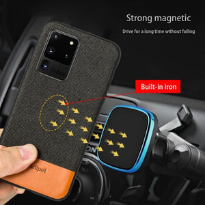 Magnetic business case Samsung s20 s10 s9 s8 plus a51 a71 a40 - Shop@Peterpan Store