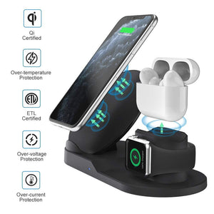 Wireless Charger Stand Fast QI Wireless Phone Charger for Mobile Phone - Shop@Peterpan Store