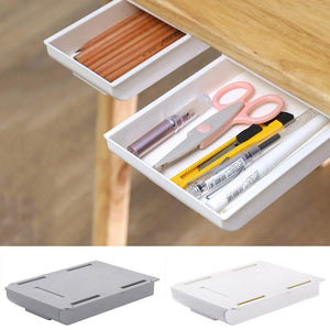 Desk Organizer Pen Holder Pencil Makeup Storage Box Under-drawer - Shop@Peterpan Store