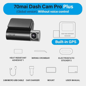 Car GPS Dash Camera Smart Cam Pro 1944P Voice Control Speed Coordinates