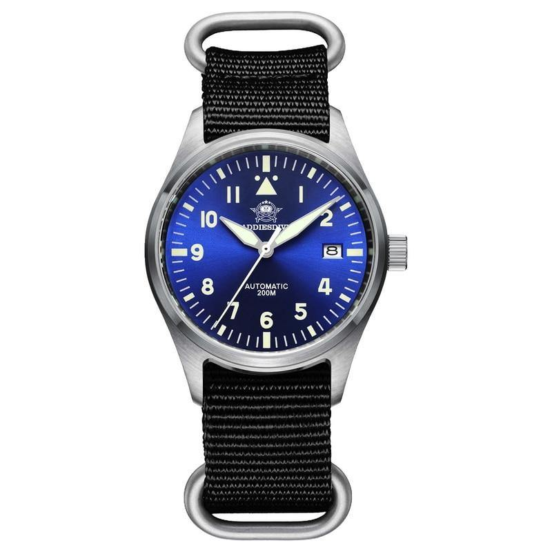 Automatic Mechanical Men's watch Sapphire Crystal Stainless Steel NH35 Pilot watch1940 - Shop@Peterpan Store