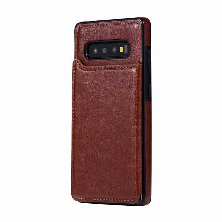 Leather Wallet Magnet Flip Case For Samsung Galaxy Note 10 Plus Card Slot Case - Shop@Peterpan Store