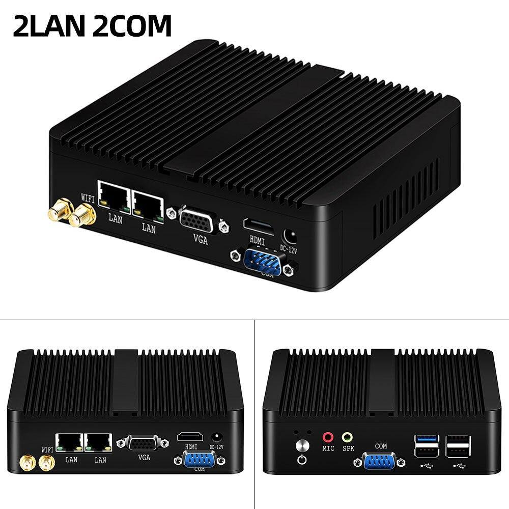Mini PC Dual LAN Celeron N2810 J1900 Mini Computer 2*Gigabit LAN Windows 7 10 WIFI
