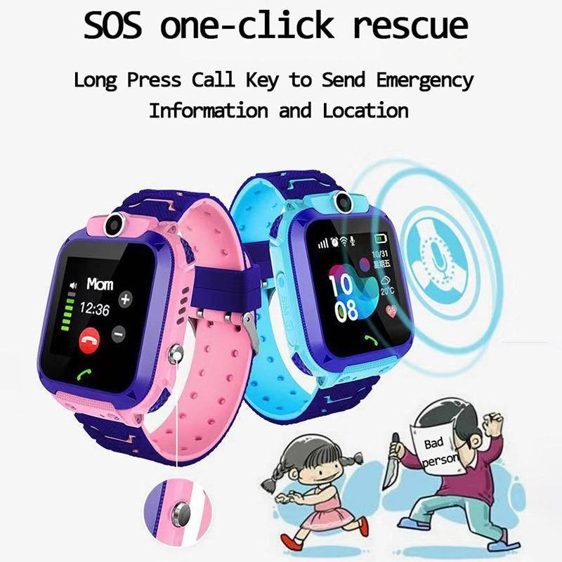 Children's Smart Watch SOS Phone Watch For Kids With Sim Card Photo Waterproof - Shop@Peterpan Store