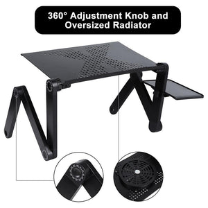 Adjustable Laptop Desk Stand Portable Aluminum Ergonomic Lapdesk - Shop@Peterpan Store