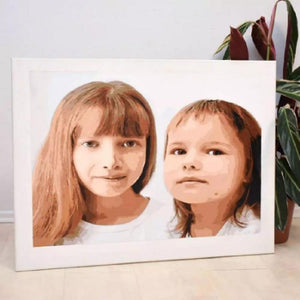 Custom painting by numbers DIY Oil Painting Canvas Portrait Drawing Family - Shop@Peterpan Store