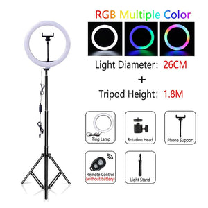 Light Studio Selfie Ring Light with Tripod USB Ring Lamp Photography Ringlight with Stand - Shop@Peterpan Store