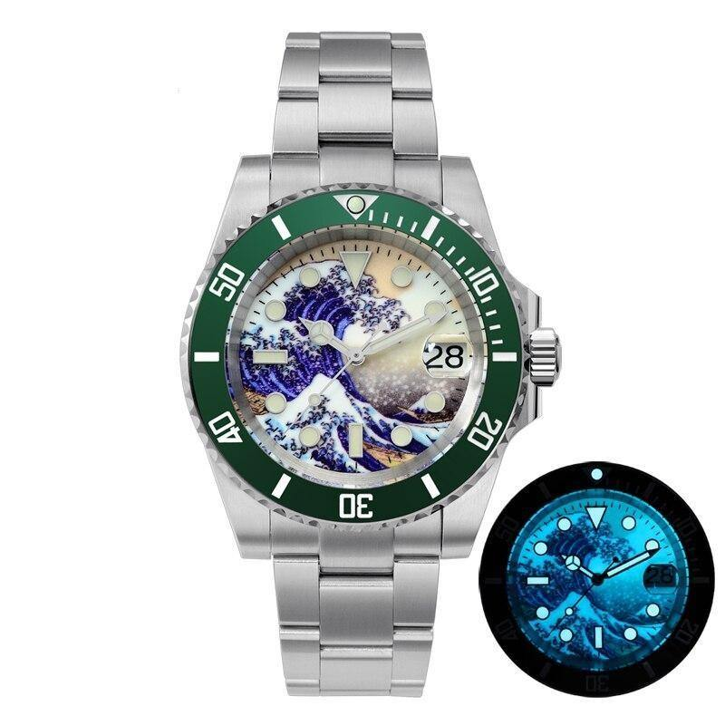 Automatic Mechanical Watches Ceramic Bezel 20Bar Luminous Date Window - Shop@Peterpan Store