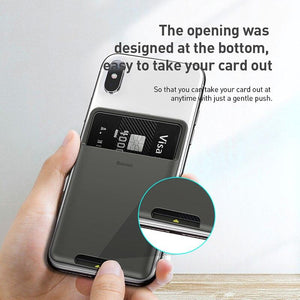 Universal Phone Back Wallet Card Slots Case For iPhone Case Luxury 3M Sticker Silicone Phone Pouch - Shop@Peterpan Store