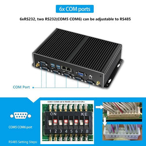 Mini PC Dual LAN 6*COM Core i7 5500U i5 4200U Celeron J1900 2955U Computer Industrial - Shop@Peterpan Store