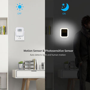 LED Plug-in Motion Sensor Light Wall Night Lamp Light with Brightness - Shop@Peterpan Store