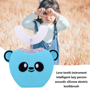 Kids 360° Automated Electric Toothbrush Music Silicon Ultrasonic - Shop@Peterpan Store