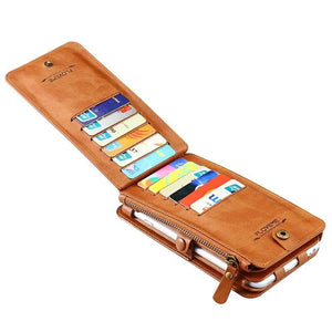 Leather Wallet Phone Case For iphone 12 11 Shell Cover bag - Shop@Peterpan Store