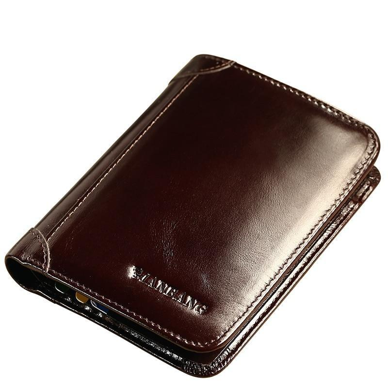 Men Wallets Classic Style Wallet Genuine Leather Short Male Purse Card Holder - Shop@Peterpan Store