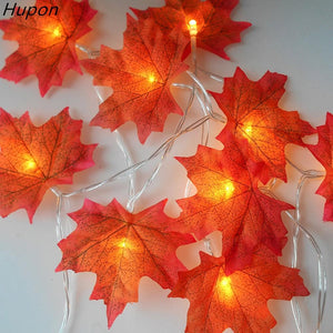 Halloween Decor 20 Lights Maple Leaves Garland Led Lights for Christmas Decoration Festive - Shop@Peterpan Store