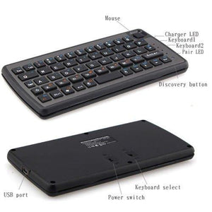 Handheld Remote Control Wireless Mini Keyboard with Touchpad Mouse - Shop@Peterpan Store