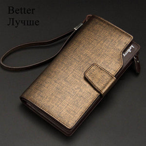Men Wallets Long Style High Quality Card Holder Male Purse Zipper Large Capacity PU Leather - Shop@Peterpan Store