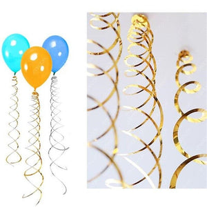 Happy Birthday Decorative 6pc/pack Metallic Ceiling Hanging Swirl for Baby Shower Wedding Halloween Birthday Party Decoration - Shop@Peterpan Store