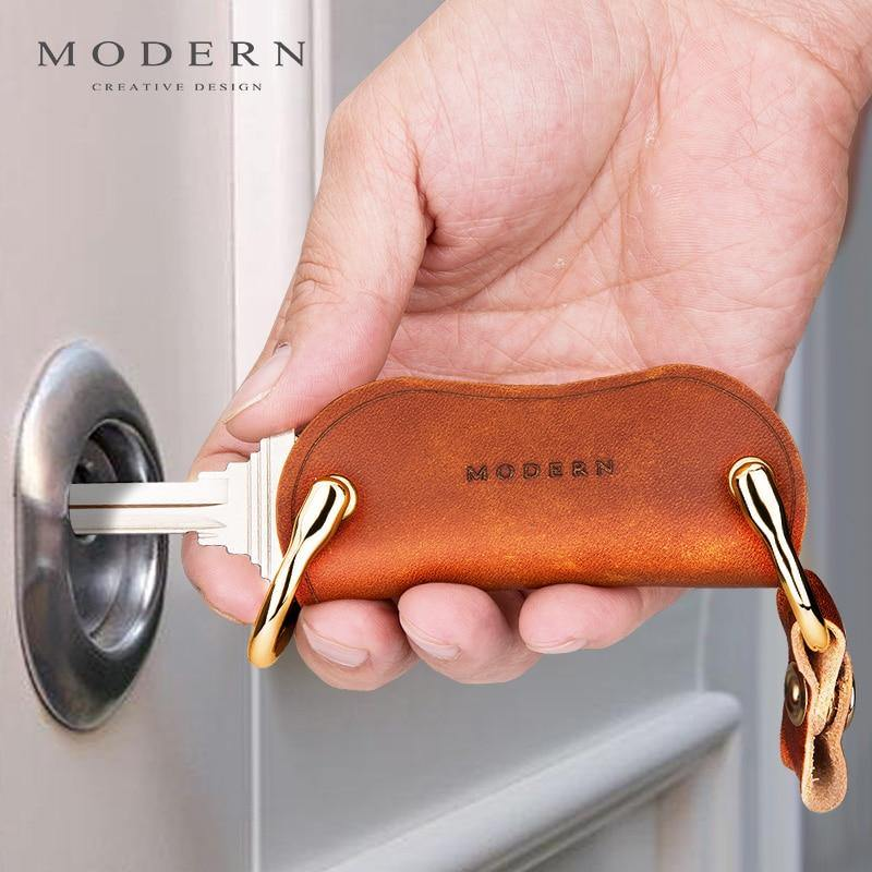 Genuine Leather Smart Key Wallet DIY Keychain EDC Pocket Car - Shop@Peterpan Store