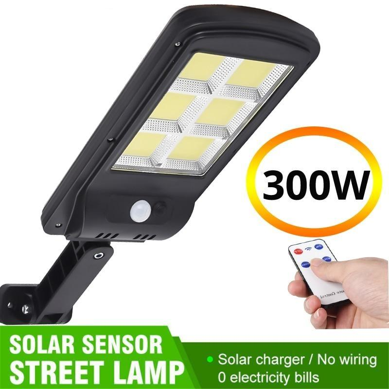 Solar Powered multicolor led light Powerful PIR Motion Sensor IP65 Outdoor Solar Wall Street light - Shop@Peterpan Store