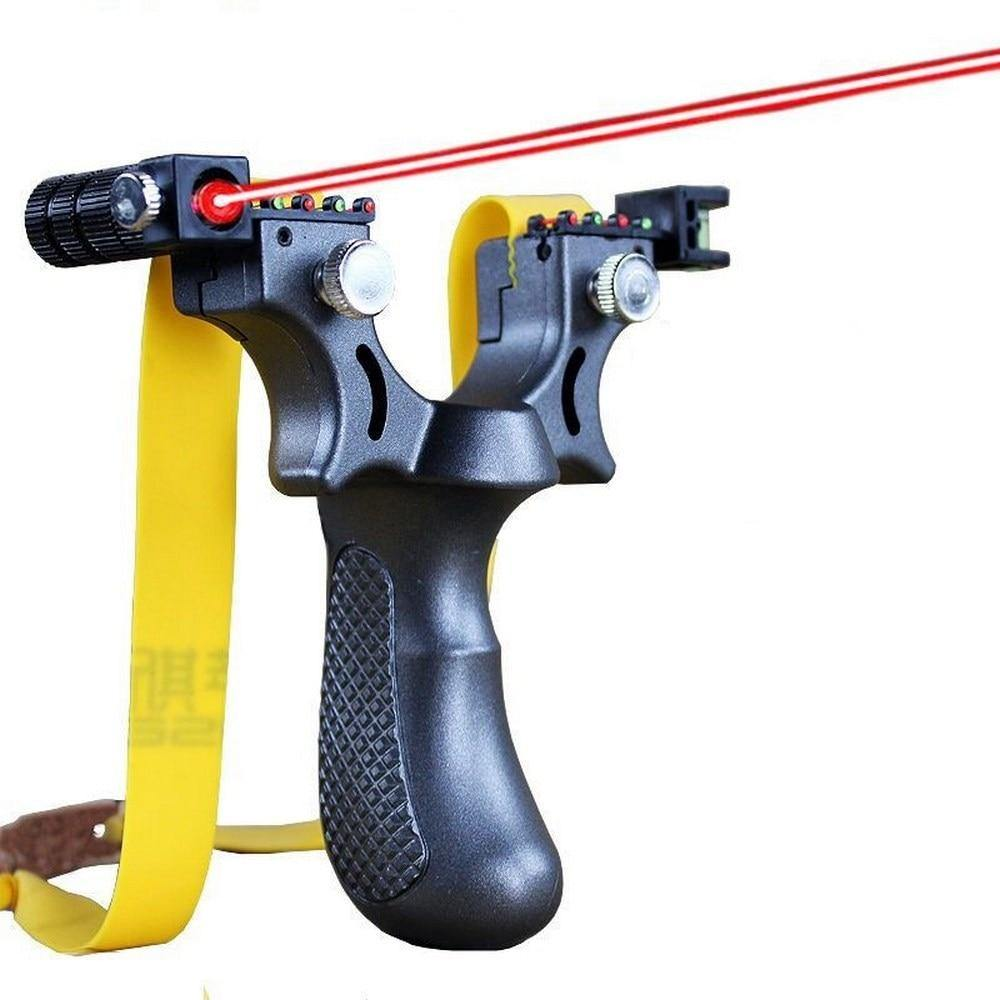 Laser Guided Slingshot Infrared Aiming Slingshot with Flat Rubber