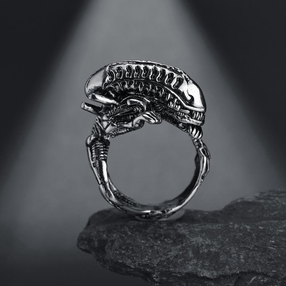 Halloween Cool Rings Gothic Deep Sea Squid Octopus Ring Vintage Wolf Deer Dargon Snake Rings - Shop@Peterpan Store