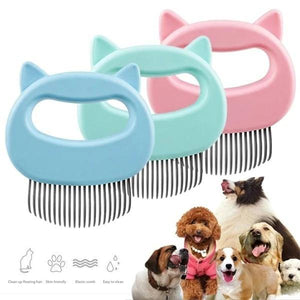 Cat Massage Comb floating hair comb kitten puppy shell - Shop@Peterpan Store