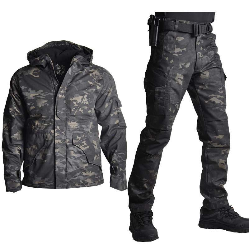 Men Military Army Tactical Uniform Combat Pants Hunting Clothes Hunting Suit Jacket Set
