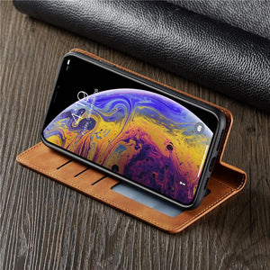 Luxury Magnet Leather Flip phone Case for iPhone X 11 12 8 7 6 6s 5 Wallet Card Holder Cover - Shop@Peterpan Store