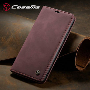 Wallet Flip Case For iPhone 12 11 Pro Retro Magnetic Card Stand Wallet