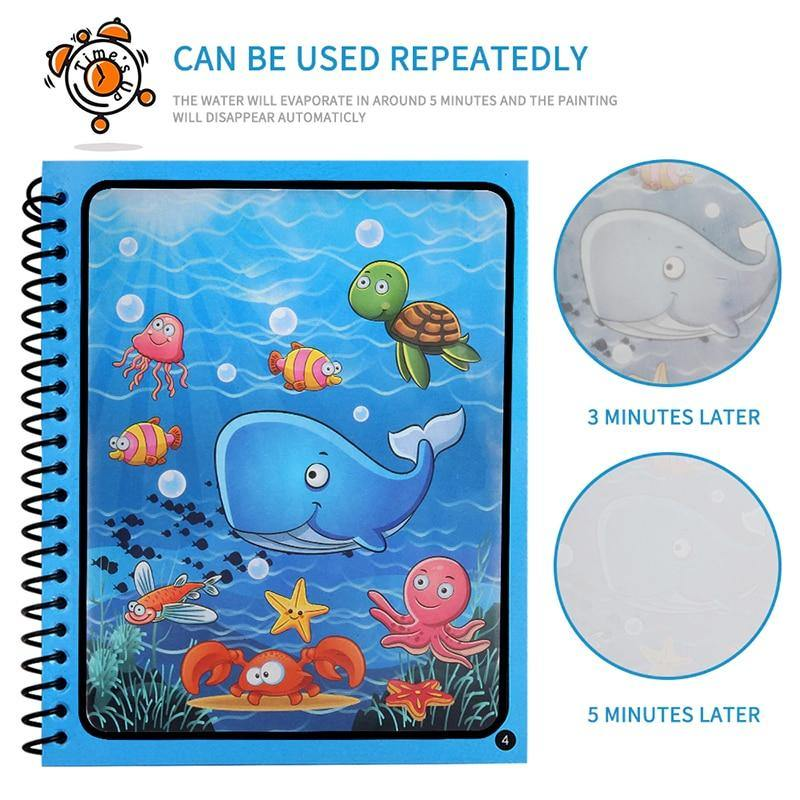Toys Reusable Coloring Book Magic Water Drawing Book