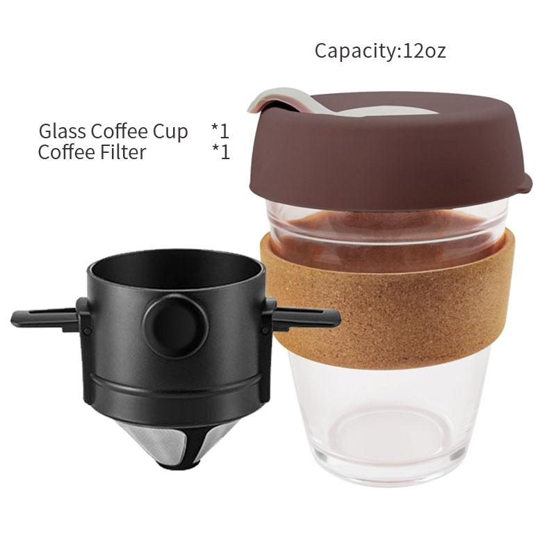 Coffee Filter Portable 304 Stainless Steel Drip Coffee Tea Holder Baskets Reusable Tea Infuser - Shop@Peterpan Store