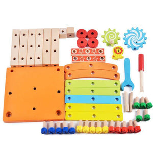 Toy for kid Children's educational toys Chair designer set of tools wooden - Shop@Peterpan Store