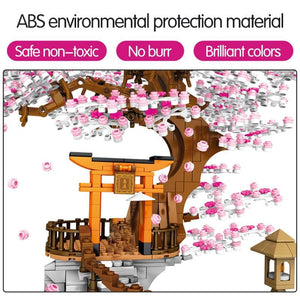 Toys for Kid City Street View Idea Sakura Inari Shrine Building Blocks Bricks Kit - Shop@Peterpan Store