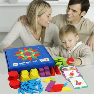 Wooden puzzle board set colorful baby children's educational toys learning development toys - Shop@Peterpan Store