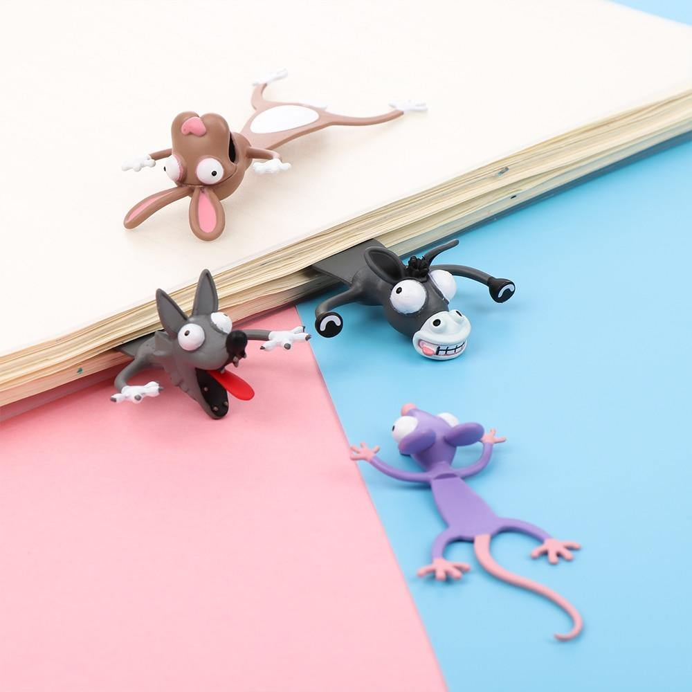 3D CARTOON BOOKMARKS – 5Pcs Set - Shop@Peterpan Store