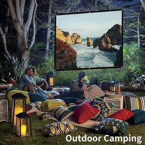 Portable Giant Outdoor Movie Screen Projector simple folding screen portable - Shop@Peterpan Store