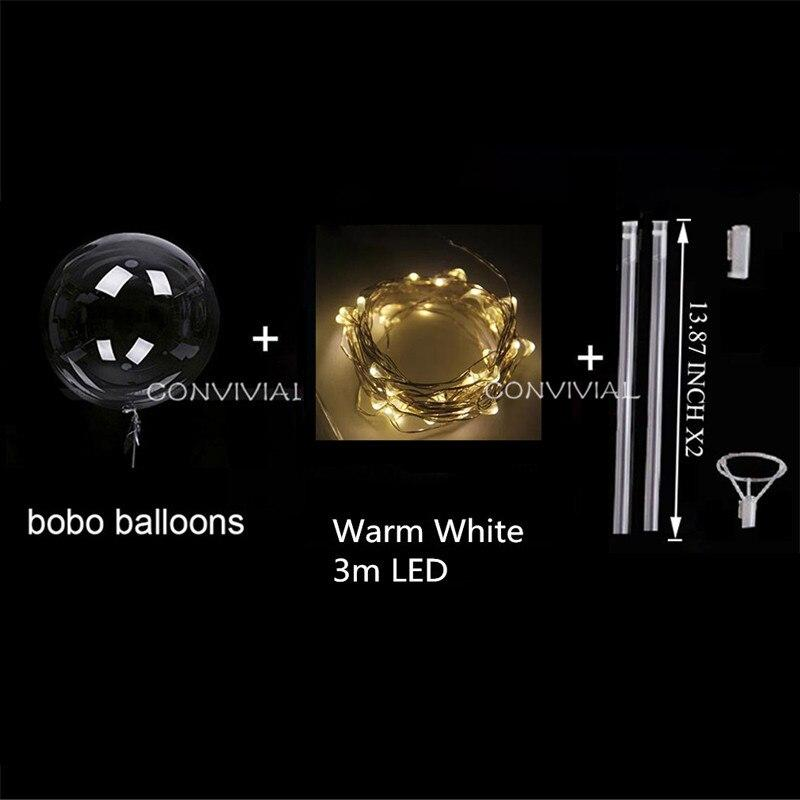 Handle Led Balloon With Sticks Luminous Transparent Helium Bobo - Shop@Peterpan Store