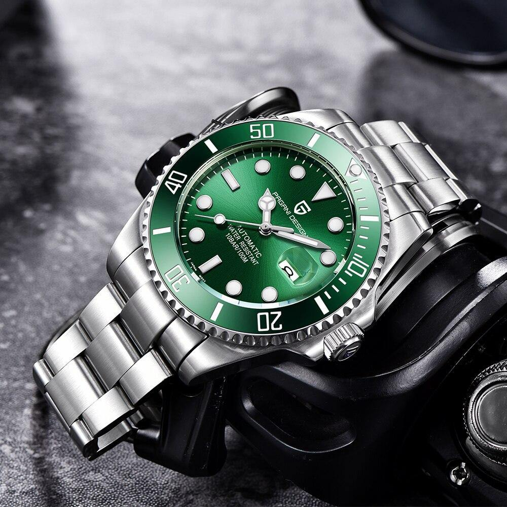 Men Watches Automatic Stainless Steel Sport Mechanical Wristwatch - Shop@Peterpan Store