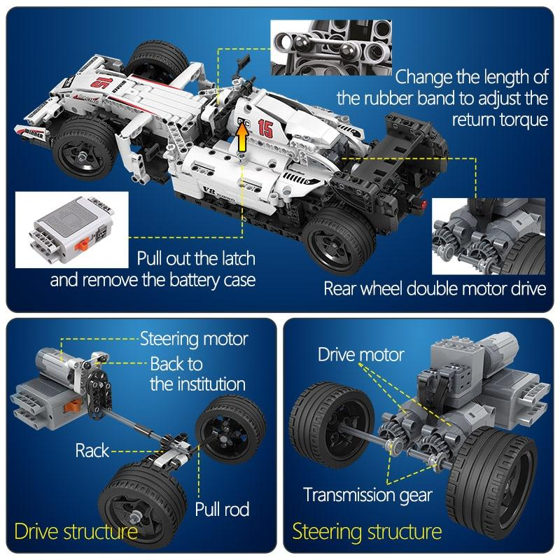 Toy For Kid F1 Racing Car Remote Control Technic RC Car Electric Building Blocks bricks - Shop@Peterpan Store