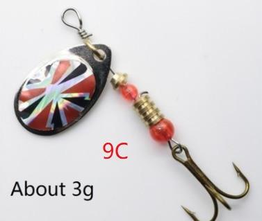 Metal Spoon Spinner Bait 2.5-4.4g  Feather Hooks Sequin Sea Fishing Lure - Shop@Peterpan Store