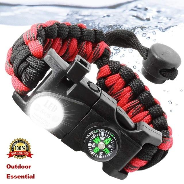 Outdoor Survival Survive Bracelet Camp Equipment Emergency Multi tool Survival Rescue SOS - Shop@Peterpan Store