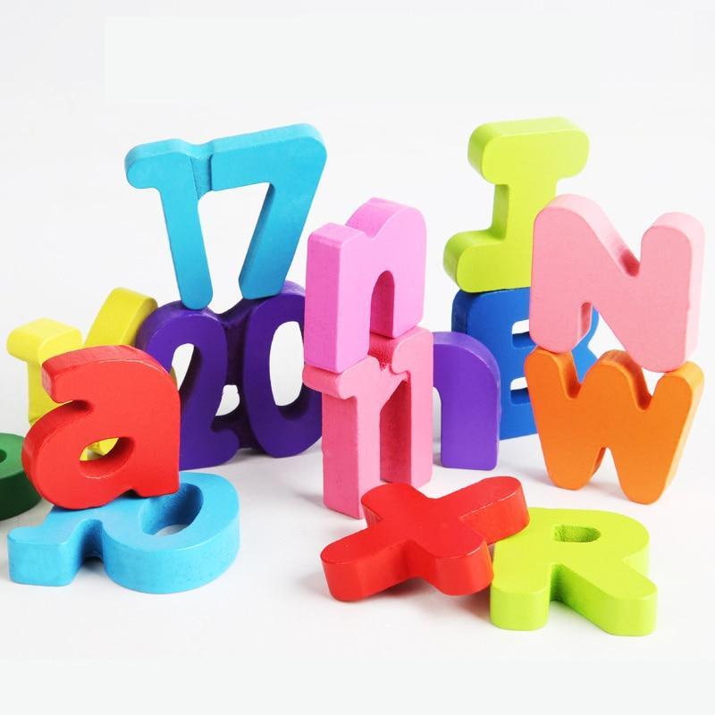Wooden Puzzles Toys Alphabet Number Puzzle Baby Colorful Letter Digital Geometric - Shop@Peterpan Store