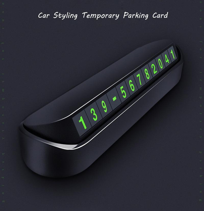 Car Temporary Parking Card Phone Number Card Plate Telephone Number Car Park - Shop@Peterpan Store