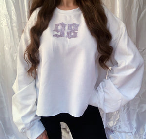 '90s Baby White Cropped Jumper