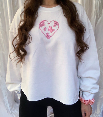 Moovin & Groovin Sample White Cropped Jumper