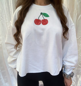 Juicy White Cropped Jumper