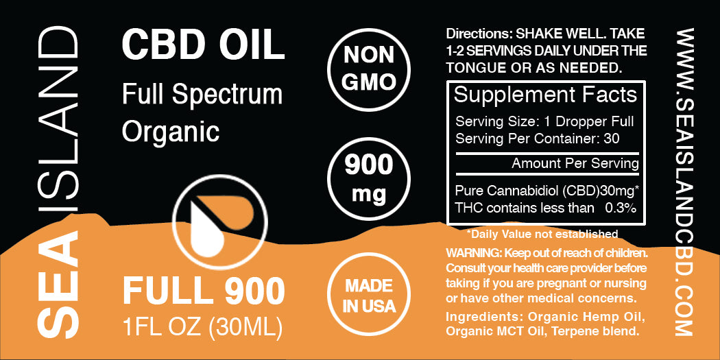 900MG CBD HEMP OIL TINCTURE