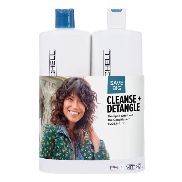 Cleanse + Detangle Classic Liter Duo Set